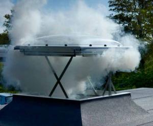Fereastră pentru evacuarea fumului pe acoperiș CSP